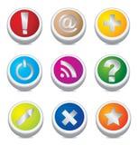 Botones del color Imagen de archivo