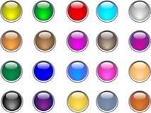 Botones del color Fotos de archivo