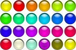 Botones del color Foto de archivo libre de regalías