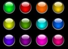 Botones del color Imagenes de archivo