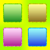 Botones del color. Sistema 2 Fotos de archivo