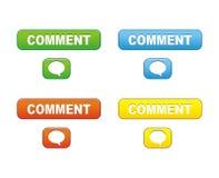 Botones del comentario ilustración del vector