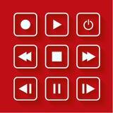 Botones del control del reproductor multimedia Foto de archivo