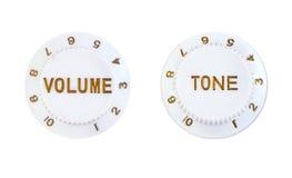 Botones del control del tono y de volumen foto de archivo