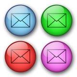 Botones del correo del Web Fotos de archivo