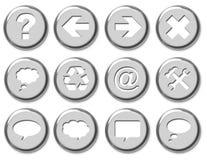 Botones del cromo Imagenes de archivo