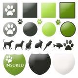 Botones del cuidado de animal doméstico Imagen de archivo