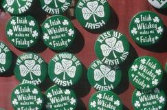 Botones del día del St. Patrick Fotos de archivo libres de regalías