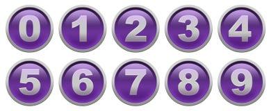 Botones del dígito Foto de archivo libre de regalías