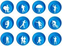 Botones del deporte Foto de archivo