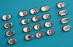 Botones del dial del telclado numérico del teléfono público Imagenes de archivo