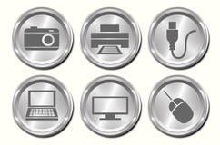 Botones del dispositivo del metal libre illustration