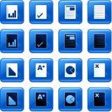 Botones del documento Fotografía de archivo libre de regalías