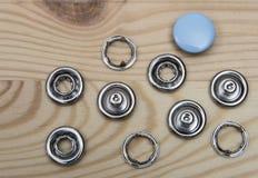 Botones del dril de algodón - accesorios imagen de archivo libre de regalías