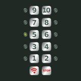 Botones del elevador libre illustration