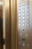 Botones del elevador Imágenes de archivo libres de regalías