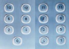 Botones del elevador Imagenes de archivo