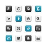 Botones del envío Fotografía de archivo libre de regalías