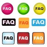 Botones del FAQ stock de ilustración