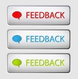 Botones del feedback del vector libre illustration