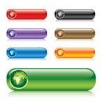 Botones del globo Stock de ilustración