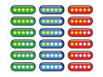 Botones del grado de la estrella Imagen de archivo libre de regalías