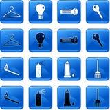Botones del hogar Imágenes de archivo libres de regalías