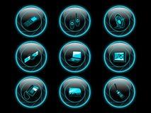 Botones del icono de la comunicación foto de archivo