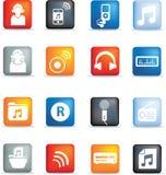 Botones del icono de la música Imagen de archivo
