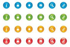 Botones del icono del web Imagen de archivo