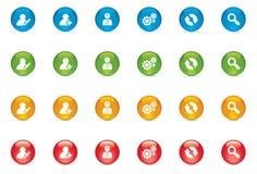 Botones del icono del web Foto de archivo libre de regalías