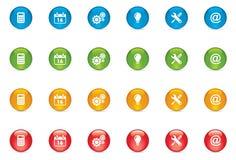 Botones del icono del Web Fotos de archivo