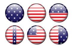 Botones del indicador americano ilustración del vector