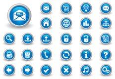 Botones del Internet Imagen de archivo