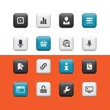 Botones del Internet y del Web libre illustration