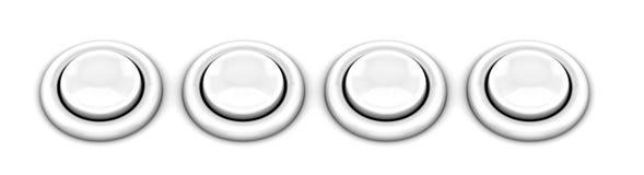 Botones del juego de arcada Imagen de archivo libre de regalías