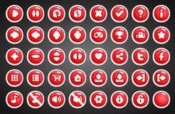 Botones del juego en estilo de la historieta Fotografía de archivo libre de regalías