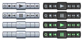 Botones del jugador Imagen de archivo