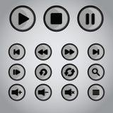 Botones del jugador Imagen de archivo libre de regalías