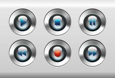 Botones del jugador Foto de archivo libre de regalías