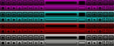 Botones del jugador Fotografía de archivo libre de regalías