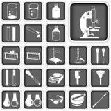 Botones del laboratorio fijados Imagen de archivo libre de regalías