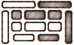 Botones del marco del tubo Imagenes de archivo