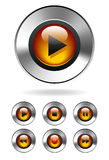Botones del MP3 Media Player Imágenes de archivo libres de regalías