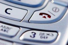 Botones del móvil Imagenes de archivo