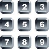 Botones del número Foto de archivo libre de regalías