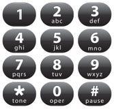 Botones del número stock de ilustración