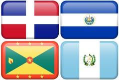 Botones del NA: Dom. Representante, El Salvador, Grenada,   ilustración del vector