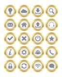 Botones del oro Imagenes de archivo