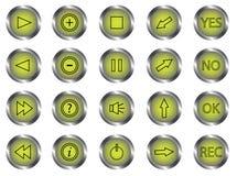 Botones del panel de control  Fotos de archivo